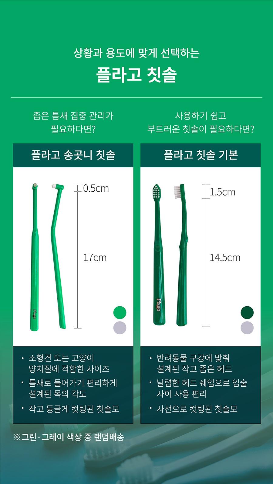 플라고 칫솔 (송곳니/기본)-상품이미지-2
